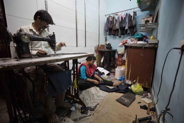 Gopal and her wife Laxmi run a small tailor shop in Majnu Ka Tila, North Delhi.