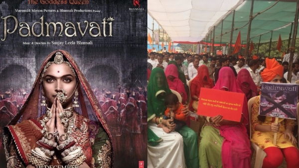 Hundreds of protesters from various Rajput groups held demonstrations against Padmavati at Mumbai's Azad Maidan.