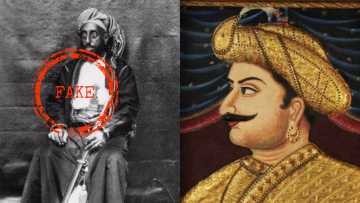 Fake and real versions of Tipu Sultan.
