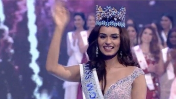 Manushi Chhillar at the Miss World 2017 pageant.