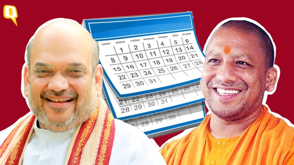 The calendar, said to be a part of the Madhya Pradesh Police's anti-drug campaign, features pictures of Uttar Pradesh  Chief Minister Yogi Adityanath and BJP president Amit Shah, among other BJP and RSS leaders.