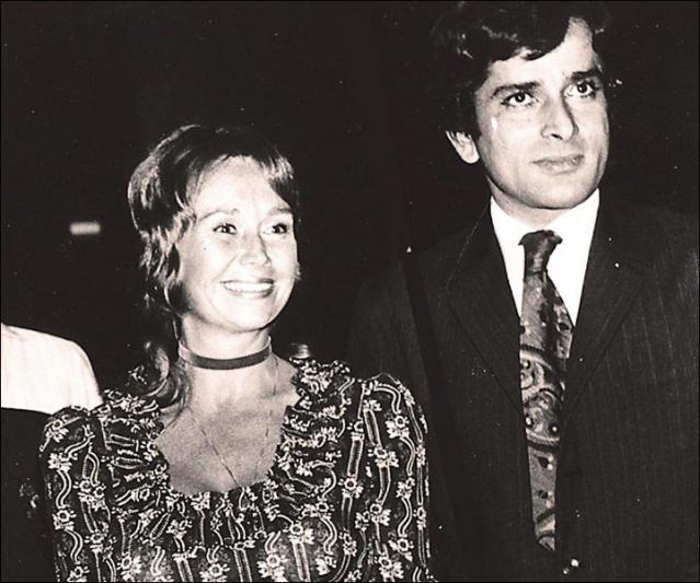 Shashi Kapoor with his wife, Jennifer.