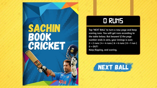 We designed an interactive book cricket game. (Photo: Screengrab from the microsite)