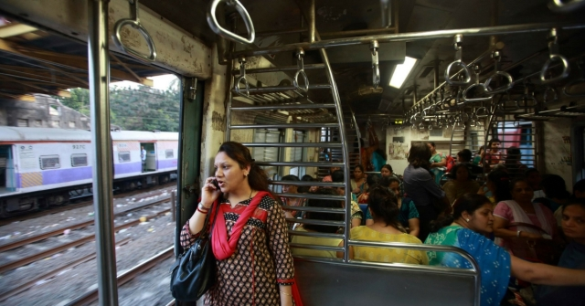Ladies Compartment in a Mumbai local.