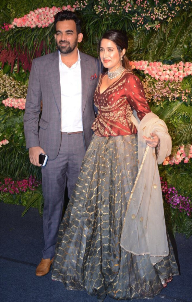 Zaheer Khan with wife, Sagarika Ghatge.
