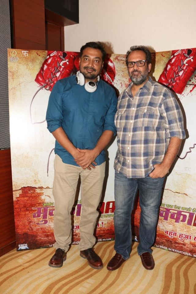 Anurag Kashyap with Aanand L Rai.