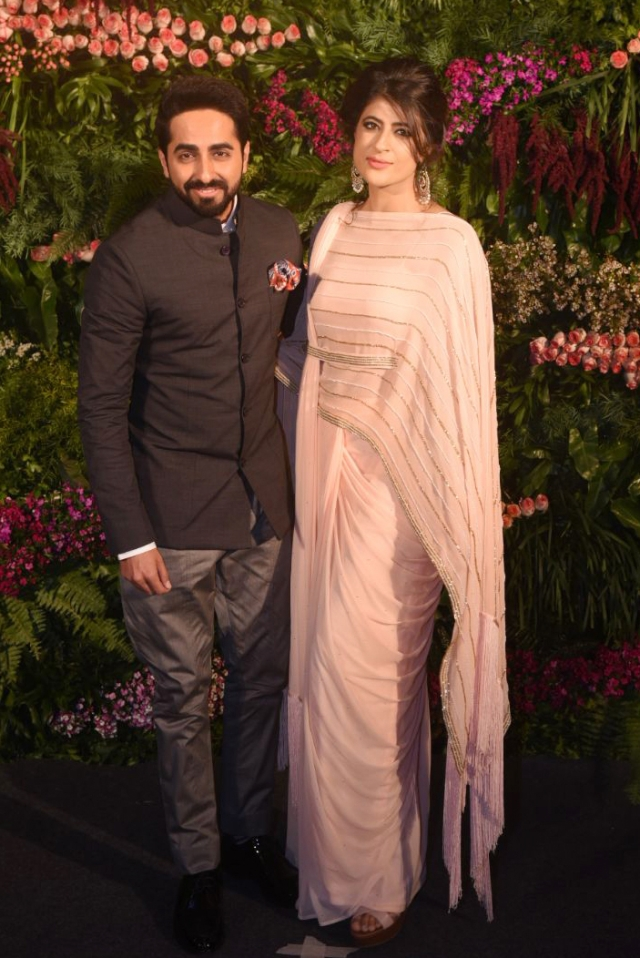Ayushmann Khurana with his wife.