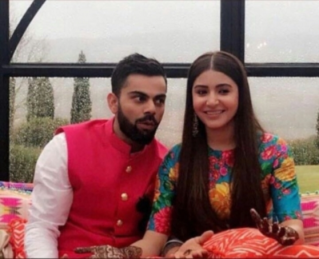 Mumbai: Indian cricket captain Virat Kohli gets married to actress Anushka Sharma in Florence, Italy on Dec 11, 2017. Virat and Anushka, who have been together for four years, chose the luxury heritage resort Borgo Finocchieto, a little over 100 km away from Florence, for their wedding. (Photo: IANS)