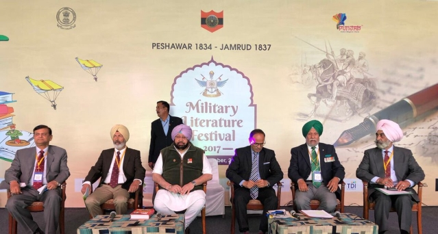 Punjab CM Captain Amarinder Singh at the first panel discussion of the Military Literature Festival at Lake Club, Chandigarh.