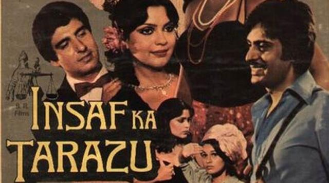 B R Chopra's <i>Insaf Ka Tarazu, </i>in which Raj Babbar appeared was condemned for glorifying rape.