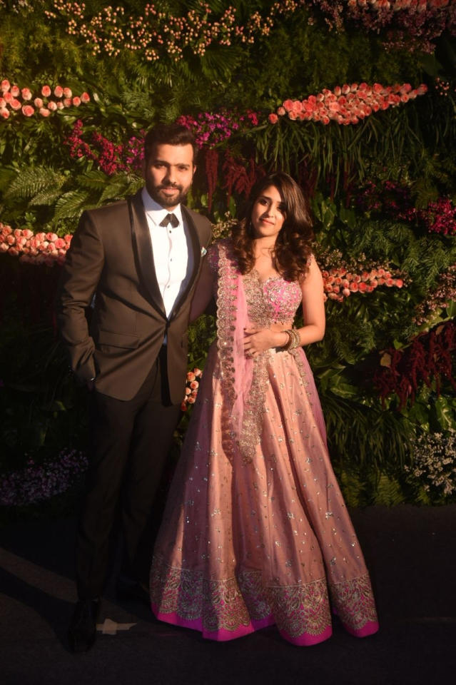 Rohit Sharma with his wife, Ritika Sajdeh.