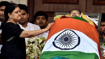 Image from Jayalalithaa's funeral.