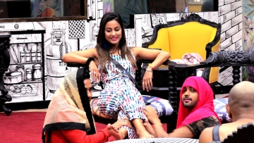Hina Khan gets pampered in the Bigg Boss house.