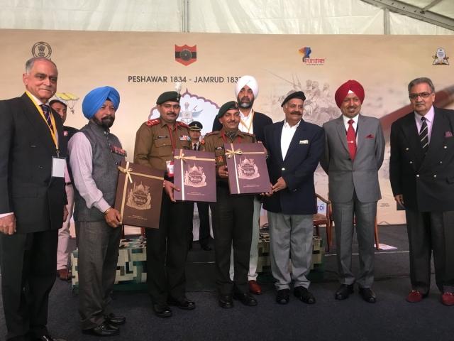 Three Param Vir Chakra winners at the Military Literature Festival.