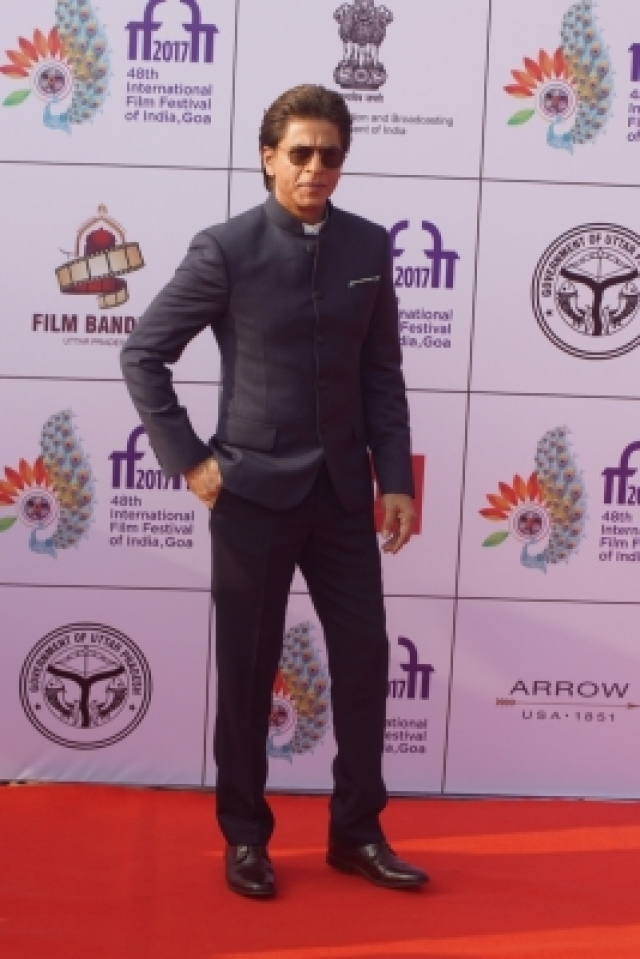 Goa: Actor Shah Rukh Khan during the opening ceremony of 48th edition of International Film Festival of India (IFFI) - 2017 in Goa on Nov 20, 2017. (Photo: IANS)