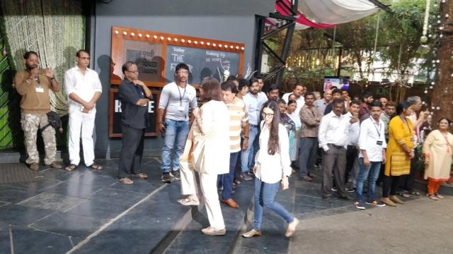 Karisma Kapoor arrives with her mother Babita.