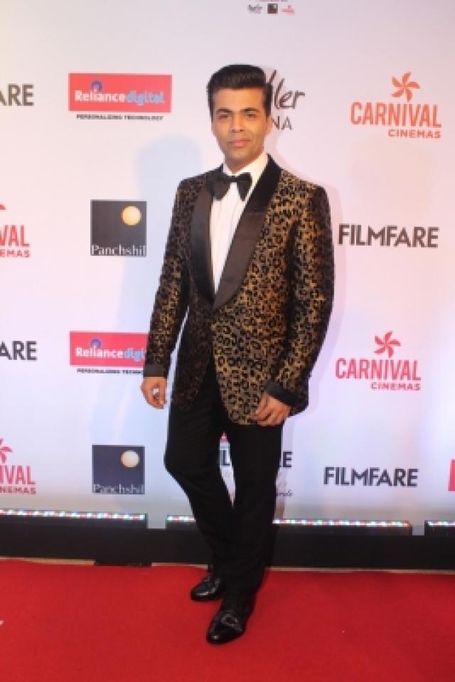 "Mumbai: Filmmaker Karan Johar at the red carpet of ""Filmfare Glamour & Style Awards 2017"" in Mumbai on Dec 1, 2017. (Photo: IANS)"