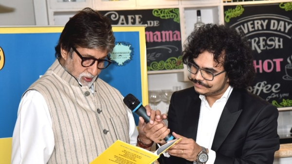 Amitabh Bachchan reads out a limerick from Raja Sen's book.