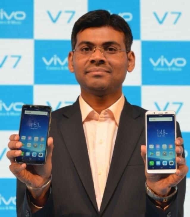 "Gurugram: Vivo India Product Manager Paigham Danish at the launch of ""Vivo V7"" in Gurugram, on Nov 20, 2017. (Photo: IANS)"