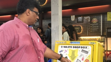 galuru got its first roadside e-waste drop box on CMH R