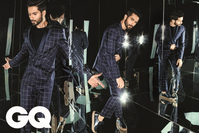 Shahid Kapoor in a recent GQ cover shoot.