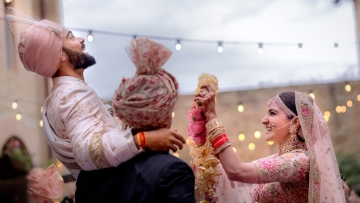 Virat and Anushka are married at last.