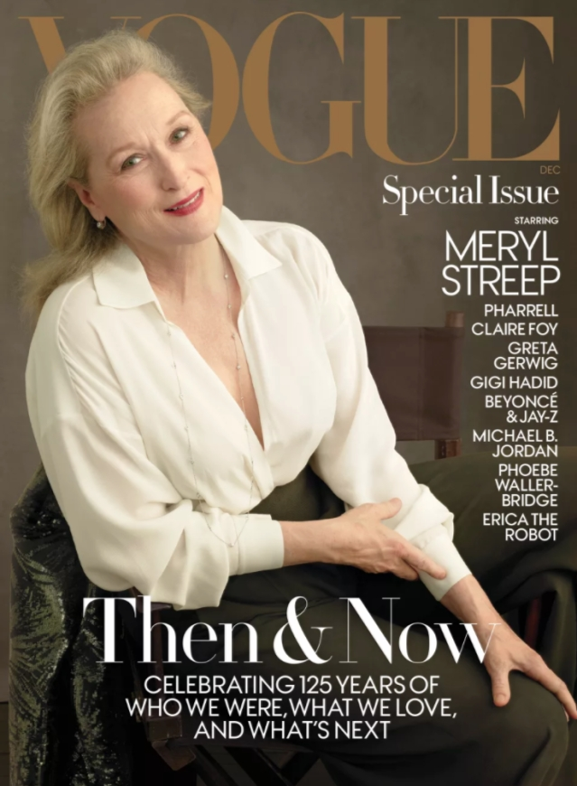 Meryl Streep on <i>Vogue</i>'s 125th anniversary issue cover.