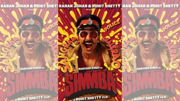 Ranveer Singh in and as <i>Simmba.</i>