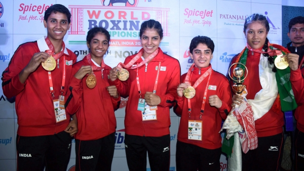 India's gold medalist boxers.