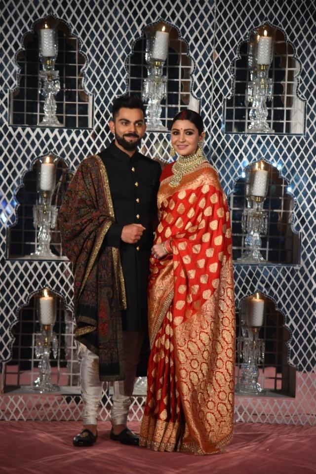 Anushka and Virat at their Delhi wedding reception