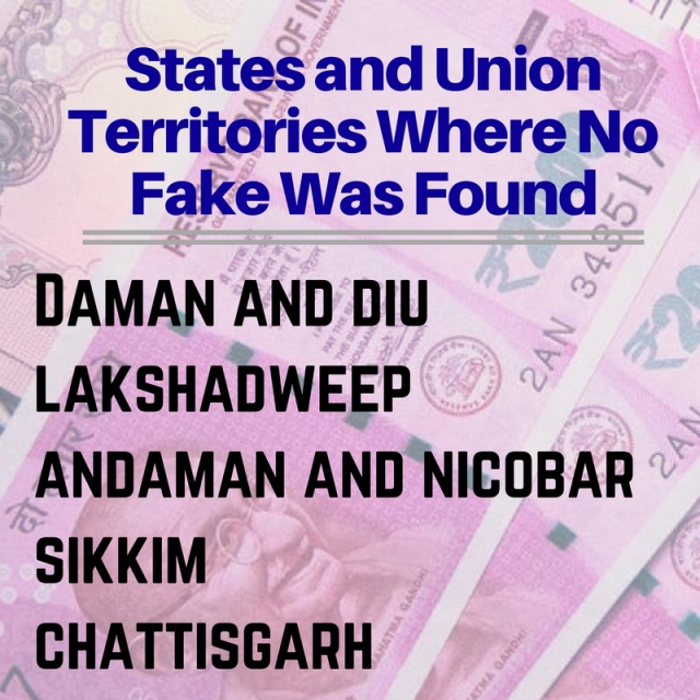 States where no fake note was found.