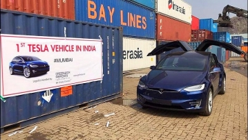 This is probably the first Tesla Model X to be imported to India.