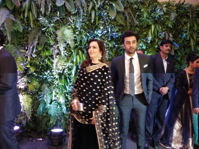 Ranbir Kapoor with the Ambanis.