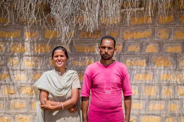 Sukhpali with her husband, Harpal Singh.