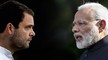 Rahul Gandhi and Narendra Modi