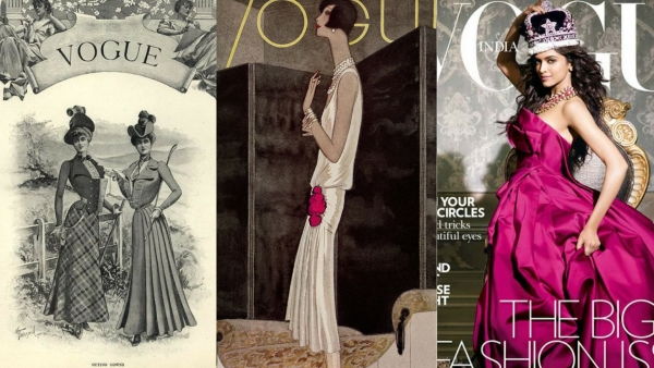 Between then and now, 'Vogue' has changed many colours and covers.