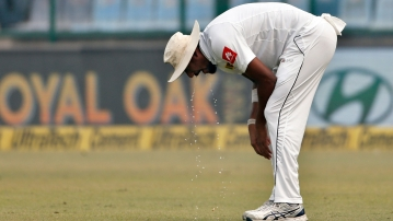 Suranga Lakmal had bowled only three overs when he was seen vomiting on the field