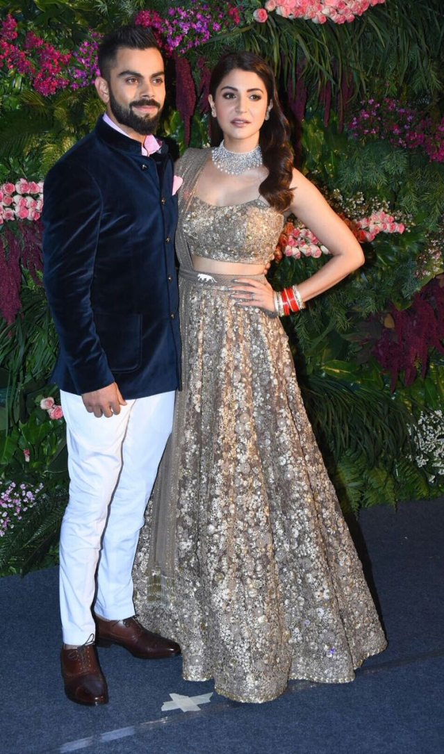 Virat Kohli and Anushka Sharma hosted a star-studded reception for their friends in the industry.