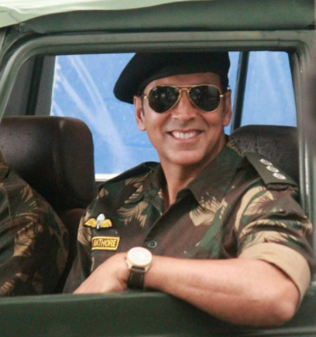 Akshay Kumar donning the avatar of an army officer.