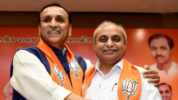 Gujarat Chief Minister Vijay Rupani and his deputy, Nitin Patel, retained their posts.
