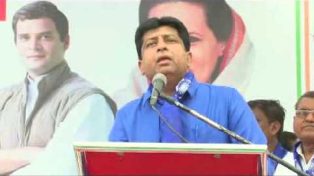 Shailesh Parmar addressing a Dalit rally in Gujarat.