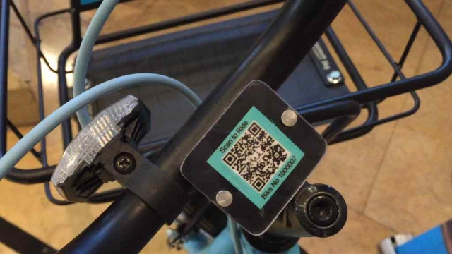 The bikes can be unlocked from the app by scanning the QR code.