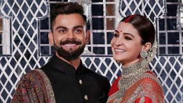Virat Kohli and Anushka Sharma at their reception in Delhi