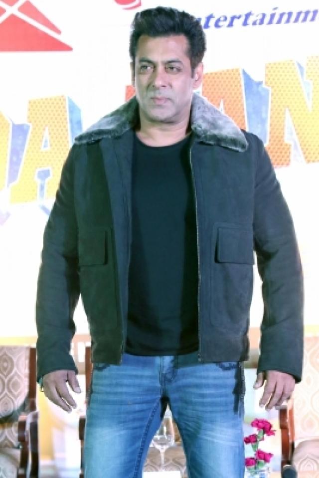 """New Delhi: Actor Salman Khan during a press conference regarding """"Da-Baang"""" tour in New Delhi on Dec 9, 2017. (Photo: Amlan Paliwal/IANS)"""
