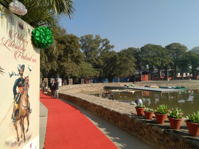 View at the Military Literature Festival in Chandigarh.