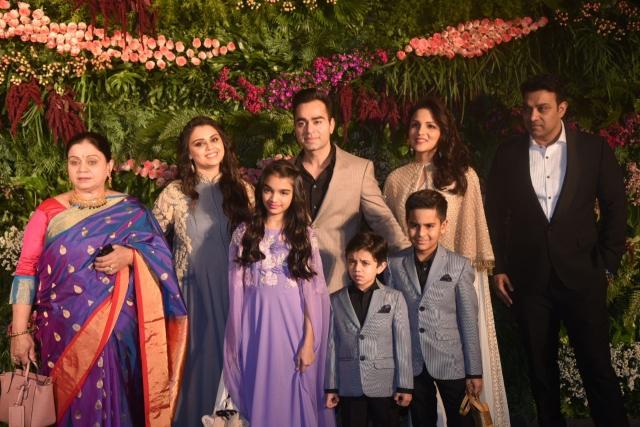 Virat Kohli's family at the reception.