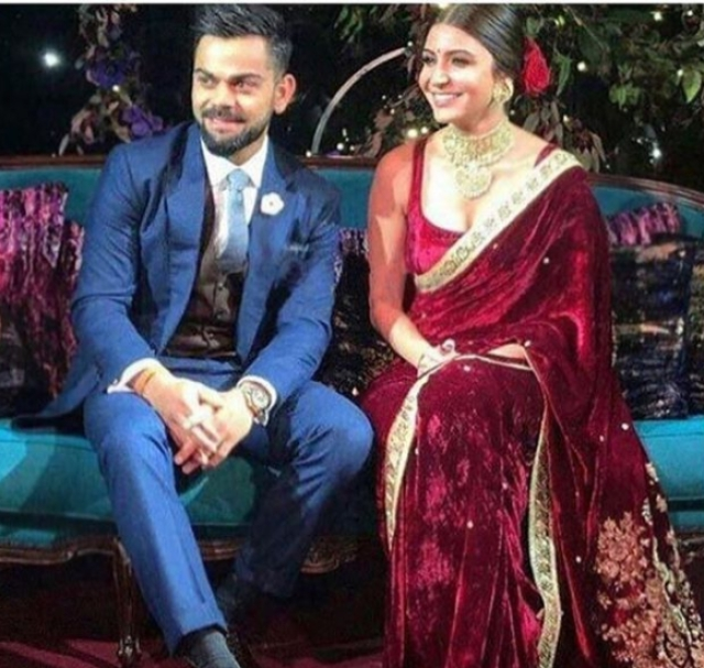 Virat-Anushka at their engagement ceremony.