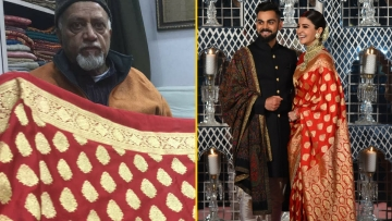 Here's a look at the craftsmen who worked on the gorgeous Banarasi saree that Anushka Sharma wore for her wedding reception in Delhi on 21 December.