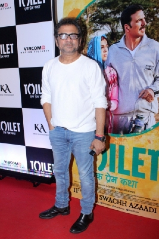 "Mumbai: Filmmaker Anees Bazmee during the special screening of film ""Toilet: Ek Prem Katha"" in Mumbai on Aug 10, 2017. (Photo: IANS)"