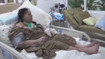 Footage of late Tamil Nadu Chief Minister J Jayalalithaa on her hospital bed in Chennai released by a disqualified MLA from the TTV Dhinakaran camp.